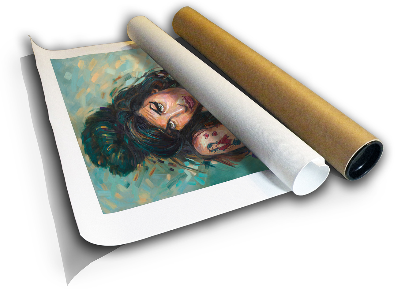 The Studio Art Gallery - Amy Winehouse by Therese Mullins - Canvas Print in Tube