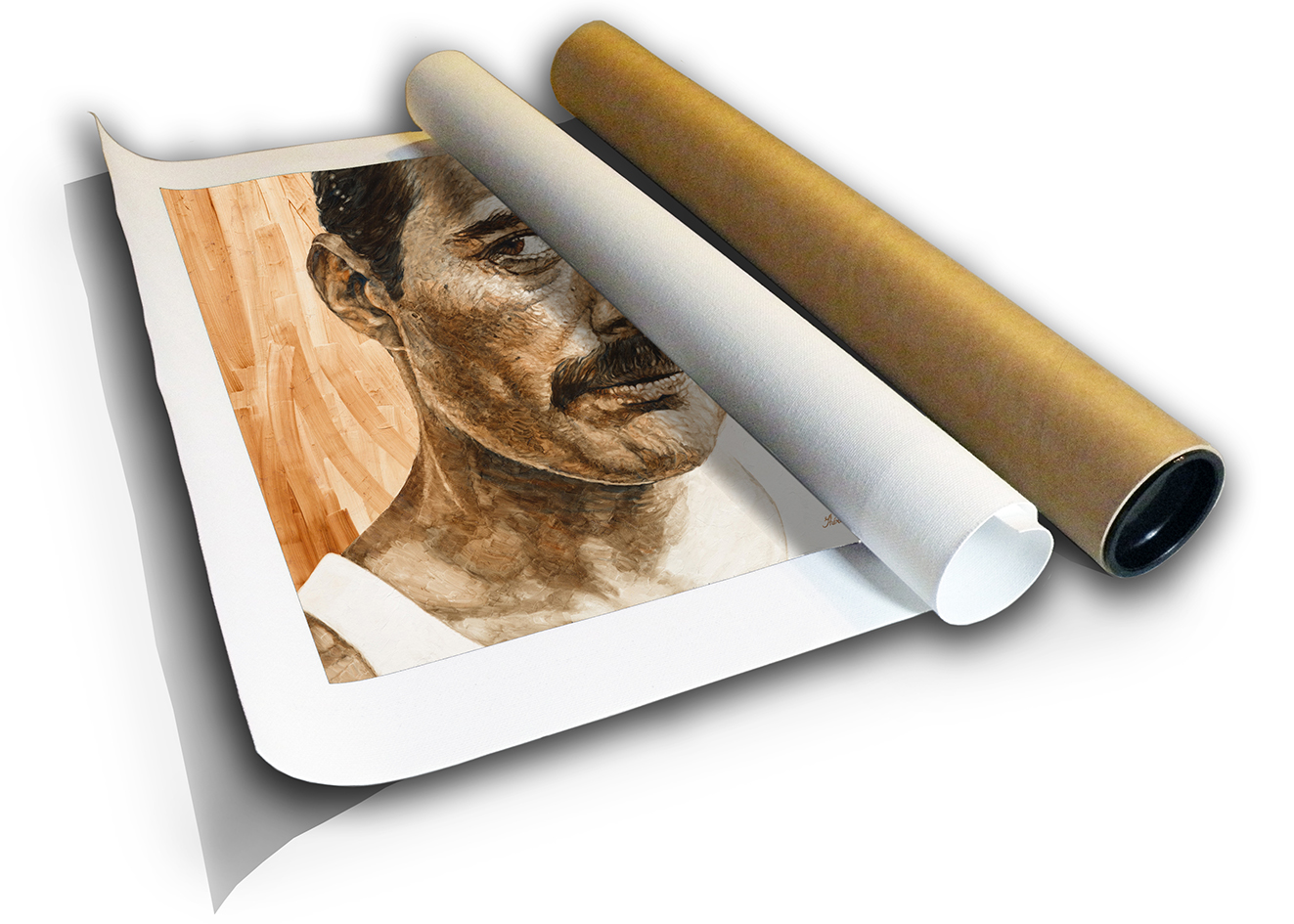 The Studio Art Gallery - Freddie Mercury by Therese Mullins - Canvas Print in Tube