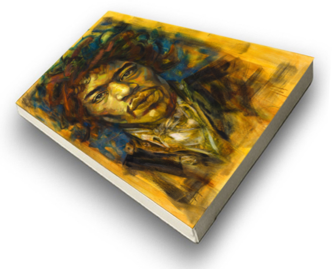 The Studio Art Gallery - Jimi Hendrix by Therese Mullins -Stretched Canvas