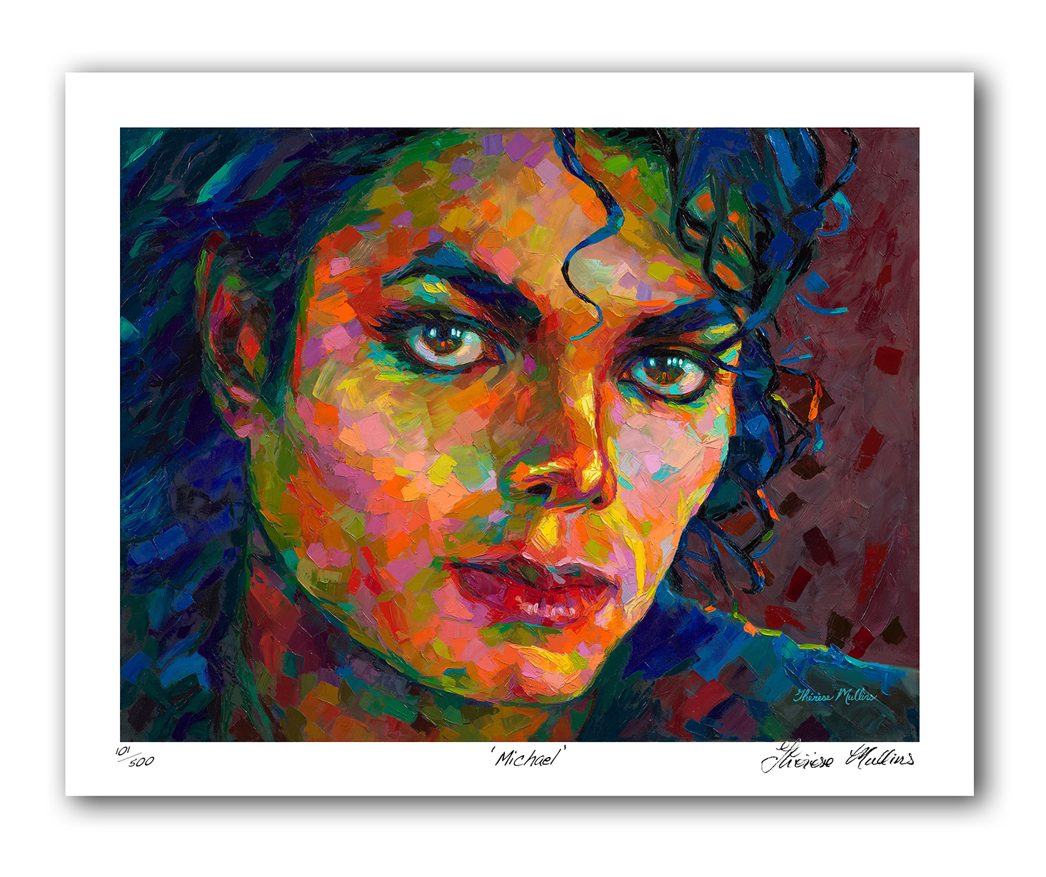 The Studio Art Gallery - Michael Jackson by Therese Mullins - Artist Print on Paper