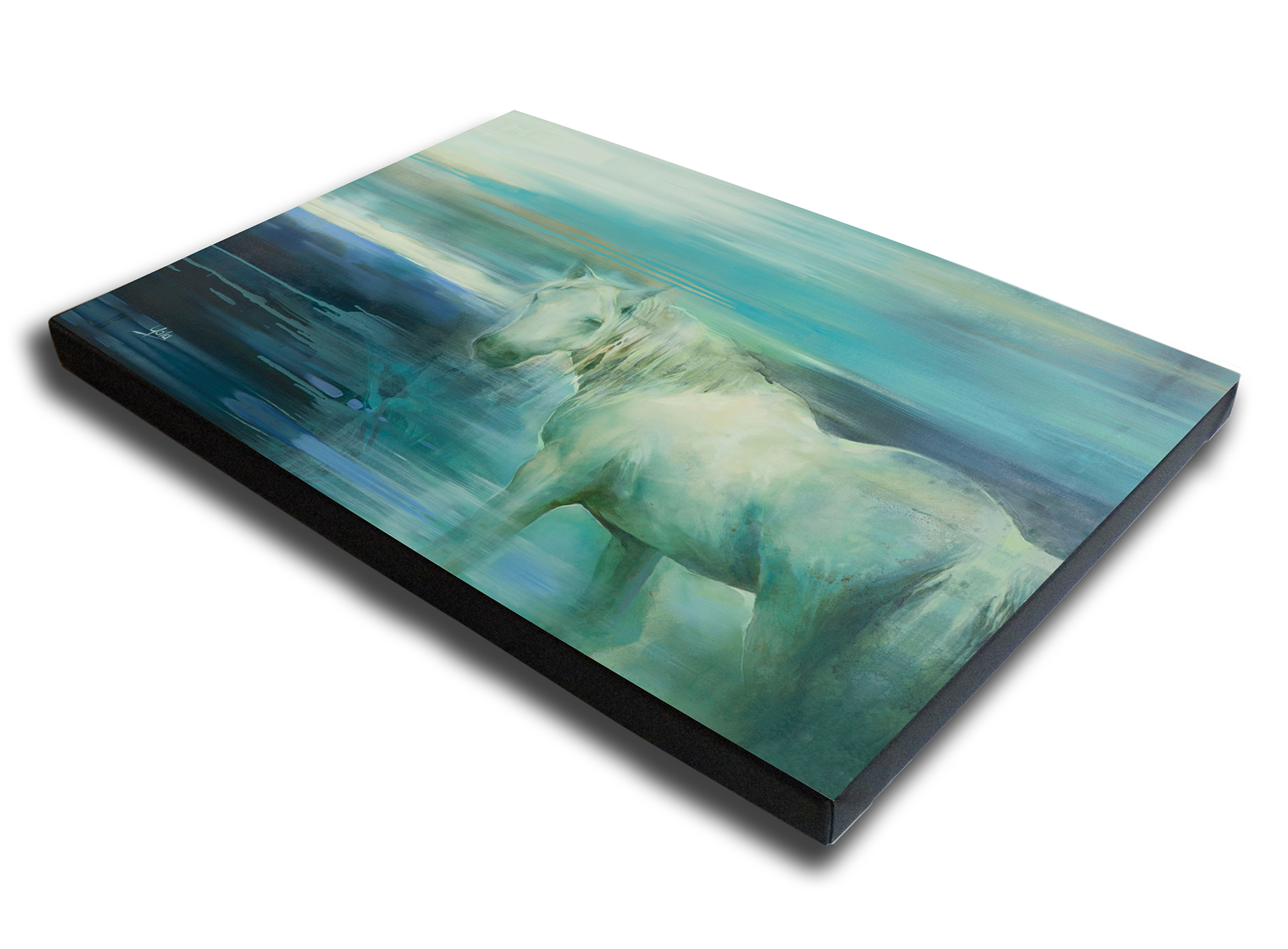 The Studio Art Gallery - Spirit Guide by Yola Quinn - Canvas Print on Stretcher